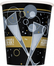8 New Year Bubbly Paper Party Cups